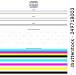 cmyk test sheet for uv inkjets. ... | Shutterstock .eps vector #249718003