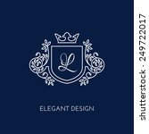 simple and elegant monogram... | Shutterstock .eps vector #249722017