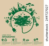 ecology concept. save world...   Shutterstock .eps vector #249727027