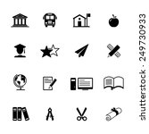 education icon set | Shutterstock .eps vector #249730933