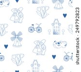 Seamless Pattern With Dutch...