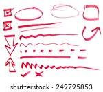 red pen drawn marks | Shutterstock . vector #249795853