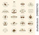vintage badges for summer... | Shutterstock .eps vector #249800743