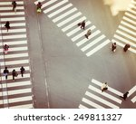 Crossing Sign Top View With...