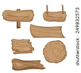wooden signs set  vector cartoon | Shutterstock .eps vector #249832573