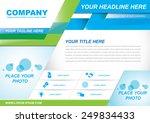 vector brochure flyer design...   Shutterstock .eps vector #249834433