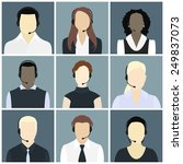 vector icons set male and... | Shutterstock .eps vector #249837073