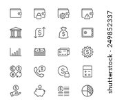 financial management thin icons | Shutterstock .eps vector #249852337