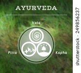 ayurveda vector illustration.... | Shutterstock .eps vector #249856237
