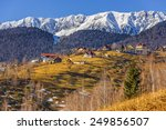 Sunny Winter Rural Scenery Wit...