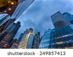 modern building from low angle... | Shutterstock . vector #249857413