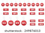 set of discount tags in vector... | Shutterstock .eps vector #249876013