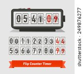 table flipping timer clock and... | Shutterstock .eps vector #249876277