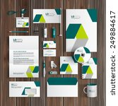 white corporate identity... | Shutterstock .eps vector #249884617
