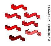 set of ribbon valentine's... | Shutterstock .eps vector #249899953