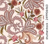 openwork pattern with paisley ... | Shutterstock .eps vector #249906463