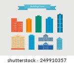 flat design modern vector... | Shutterstock .eps vector #249910357