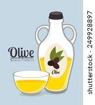 olive oil over blue background  ... | Shutterstock .eps vector #249928897