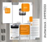 white brochure template design... | Shutterstock .eps vector #249950203