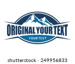 mountains and typography emblem | Shutterstock .eps vector #249956833