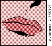 pop art lips | Shutterstock . vector #249957907