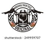motorcycle flag circle emblem | Shutterstock .eps vector #249959707