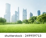 park in  lujiazui financial... | Shutterstock . vector #249959713