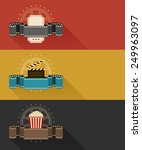 retro movie theater posters... | Shutterstock .eps vector #249963097