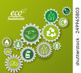 eco sustainibility design ...   Shutterstock .eps vector #249965803