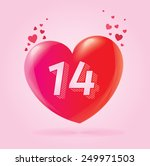 valentines day heart love... | Shutterstock .eps vector #249971503