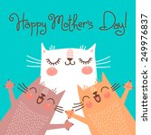 sweet card for mothers day with ... | Shutterstock .eps vector #249976837