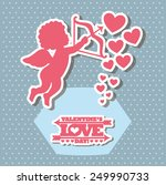 happy valentines day design ... | Shutterstock .eps vector #249990733