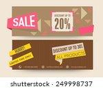 sale website header or banner... | Shutterstock .eps vector #249998737
