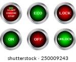 vector button symbol isolate   Shutterstock .eps vector #250009243