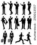 silhouette of man  people ... | Shutterstock .eps vector #250013557
