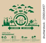 ecology concept. save world... | Shutterstock .eps vector #250014457