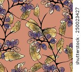 floral seamless pattern | Shutterstock . vector #250023427