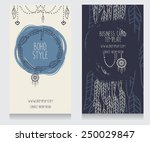 two cards for boho style  can... | Shutterstock .eps vector #250029847