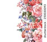 gentle vintage floral greeting... | Shutterstock . vector #250030093