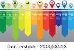 colorful infographic with many... | Shutterstock .eps vector #250053553