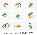 set of step infographics... | Shutterstock .eps vector #250061173