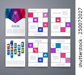 templates. set of web  mail ... | Shutterstock .eps vector #250072027