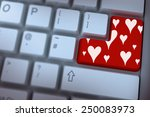 valentines day pattern against... | Shutterstock . vector #250083973