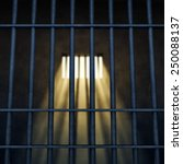 prison cell interior   sunrays... | Shutterstock . vector #250088137