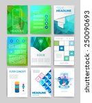 templates. set of web  mail ... | Shutterstock .eps vector #250090693
