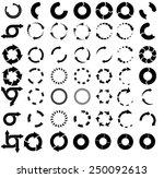 set of vector circular arrows.... | Shutterstock .eps vector #250092613