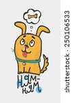 cute yellow dog hungry.... | Shutterstock .eps vector #250106533