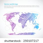 bright world map seaway... | Shutterstock .eps vector #250107217