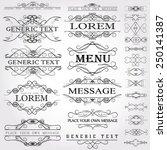 calligraphic design elements... | Shutterstock .eps vector #250141387