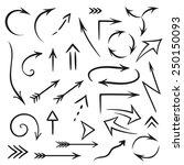 vector set of hand draw arrows   Shutterstock .eps vector #250150093